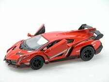 Kinsmart Lamborghini Veneno (Hot Orange) 1:36 Die Cast Metal Collectable Car