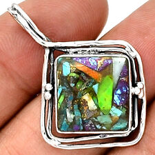 Multi Copper Turquoise 925 Sterling Silver Pendant Jewelry PP55960