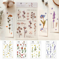 DIY Transparent Scrapbooking Stickers Album Diary Flowers Leaves Stickers