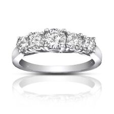 Band Ring In 18 Karat White Gold 1.75 ct Ladies Round Cut Diamond Wedding