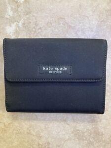 Kate Spade Black Nylon Medium Wallet NWOT $159
