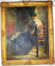 Restaurando fasto quadro oro firmato Jan Hermanus Melcher-tilmes Paesi Bassi 1874