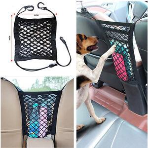 2-Layer Car Middle Seat Storage Mesh/Organizer Cargo Dog Isolation Net Universal