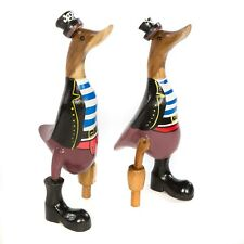 More details for single fairtrade bamboo pirate duck - du-609