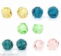 200 Neu Mix CRISTALL Glasperlen Schliffperlen Facettiert Beads Rhombe 4mm