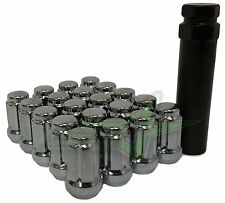 16 EZ-GO CLUB CAR GOLF CART CHROME SPLINE LUG NUTS + KEY | 1/2X20 4 GOLF CARTS