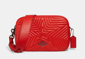 Genuine Jes Coach Quilted Star Bag Red or Midnight Blue Wonder Woman