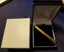 Extremely Rare Vintage 14k Gold WHS 1940's Cigarette Tube Pendant Lighter