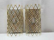 Vintage Antique Schonbek Gold Silver Tone Art Deco Sconce Light Lamp Fixture Lot