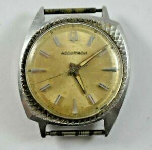 Vintage 1966 Bulova Accutron Asymmetric Case Tuning Fork 214 Wrist Watch lot.7