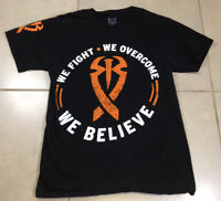 Men's WWE ROMAN REIGNS We Fight We Overcome We Believe OFFICIAL Sz Small T Shirt