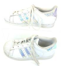Adidas Orholite Superstar Halogram Iridescent CG-3597 White Girls Size 2.5.