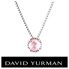 DAVID YURMAN Sterling Silver 925 Chatelaine Pendant Necklace With Morganite