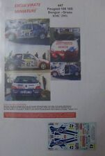 PEUGEOT 106 S16 GR A RALLYE MONTE CARLO 2001 ALEX BENGUE DECALS EXCLU VIRATE