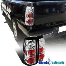 1999-2002 Chevy Silverado/ GMC Sierra Fleetside Tail Lamps Brake Lights Chrome