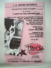 NITE CLUB CONFIDENTIAL Herald FAY DE WITT Tiffany Theatre LOS ANGELES CA 1986