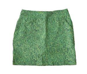 NWT Loudmouth Golf Ladies Women's Size 0 Green Blades of Grass Print Skort Skirt