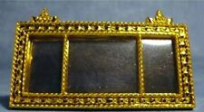 Long Golden Ornate French Mirror, Miniature, Wall Decor Dolls House Miniature