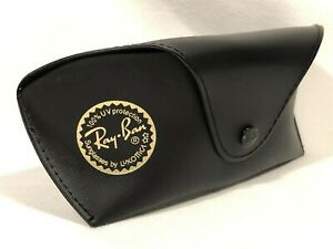 Large Ray Ban Aviator Sunglasses Eyeglasses Black Protective Case with Belt Loop