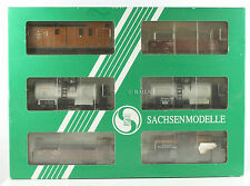 SACHSENMODELLE HO GAUGE 14104 SET OF 6 ASSORTED EP.I GOODS WAGONS