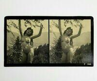 antica FOTO EROTICA Stereoscopica Primi Anni Del '900 ART PHOTO fotografia Nudo