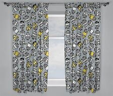 NEW DESPICABLE ME 3 MINIONS MOVIE JAILBIRD CHILDRENS PAIR OF CURTAINS - 66 x 72