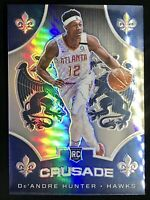 2019-20 Panini CHRONICLES Crusade De'Andre Hunter Silver Prizm ROOKIE Card Rc 🔥
