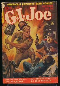 G. I. JOE No. 26 1953 Ziff-Davis War Comic Book CLARENCE DOORE Painted Cover GD-