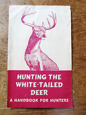 1950s Hunting White-Tailed Deer Handbook Advertising Book Order Form Foldout