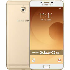 "Samsung Galaxy C9 Pro C9000 Gold Dual SIM 64GB 6GB RAM 16MP 6"" Phone By FedEx"