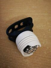 LED ruby bike front white light & white case - black silicone - BATTERY INCLUDED