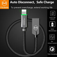 Mcdodo Smart LED Auto Disconnect Lightning USB Cable Charger iPhone X/8/7/6 Plus