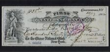 USA 1902 First National Bank, obsolete check or cheque, EF