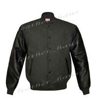 Original American Style Genuine Leather Varsity Letterman College Men Jackets XL