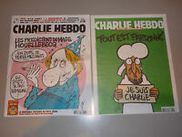 CHARLIE HEBDO rare PAPIER JOURNAL N 1177 1178 de collection
