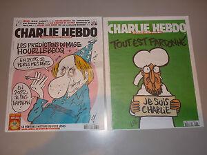 CHARLIE HEBDO rare PAPIER JOURNAL N 1177 1178 de collection