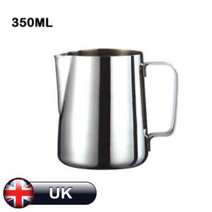 350ml Stainless Steel Milk Jug Frothing Frother Coffee Pitcher Measure Cup DIY #