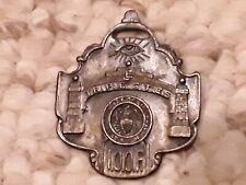 antique Odd Fellows WATCH FOB Binghamton NY Triple Cities vintage medal badge