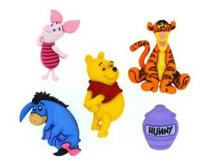 Disney Winnie the Pooh Buttons Jesse James Dress It Up Embellishment Collection