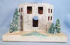 Vintage Christmas House Train Yard Putz Japan White Italianate Larger As Is