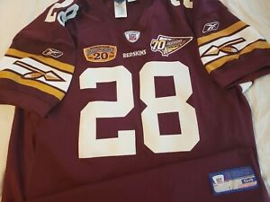 Darrell Green 2002 Washington Redskins 20th Season 70th Anniv Authentic Jersey
