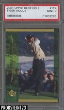 2001 Upper Deck Golf #124 Tiger Woods PSA 9 MINT