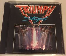 Stages Triumph CD 1985, MCA Early Press No Bar Code Rush Allied Forces Ac/Dc.
