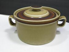 Mid Century Stavangerflint Casserole Pottery Finse Brown Covered Norway Serving