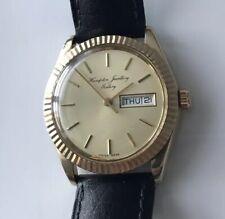 Vintage 9ct Gold Watch With Rolex Crown Eta 2878