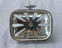 Antique Nickel Brass Soap Dish Holder Wall Mount Vtg  Bathroom 16-19J