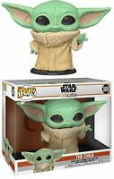 "STAR WARS THE MANDALORIAN THE CHILD 10"" HUGE POP VINYL FUNKO 369 BABY YODA"