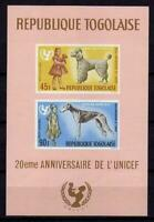 A7909)Togo Scott #C64a MNH S/S Dogs - Animals - Unicef Ungezähnt