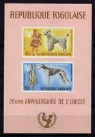A7909)Togo Scott #C64a MNH S/S Dogs - Animals - Unicef Ungezähnt