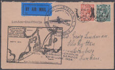 1928 GEORGE V COVER AIR POST OFFICE OVERNIGHT SERVICE LONDON TO STOCKHOLM
